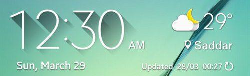 Pure Version طريقة تثبيت تطبيق حالة الطقس الخاص بـ جالكسي اس 6 على اي هاتف اندرويد