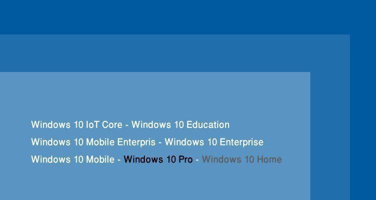 الفرق بين اصدارات ويندوز 10 وأكثرهم شعبية   عربي تك