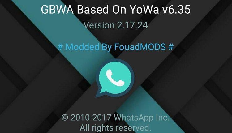 تحميل افضل نسخة مطورة لتطبيق الواتس اب GBWhatsApp 6.35