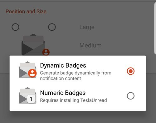 Dynamic badges