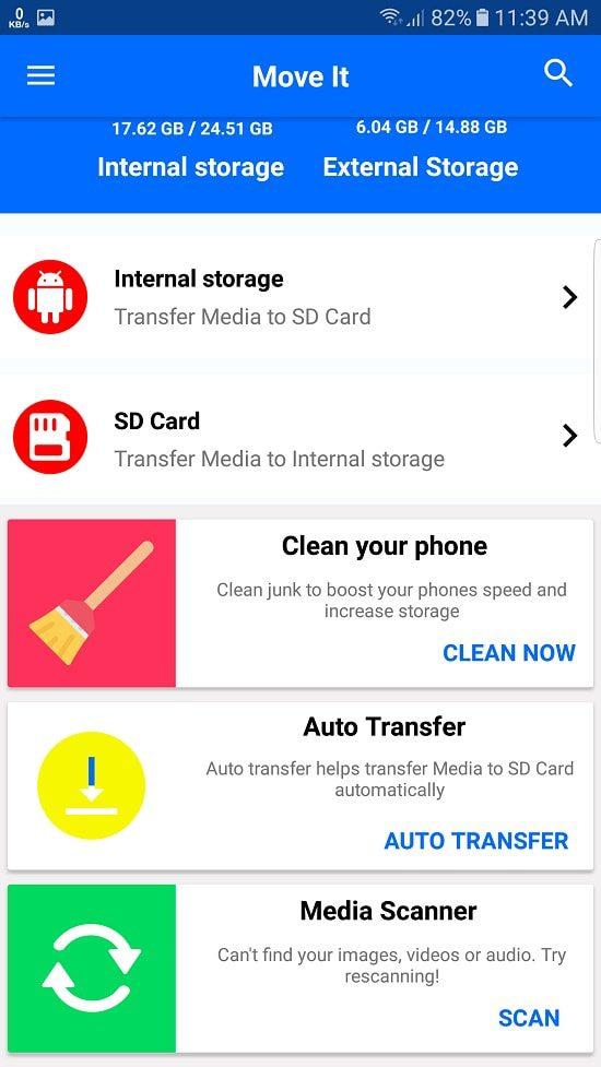 Screenshot 20170604 113909 min كيفية نقل الصور والفيديوهات الى ذاكرة الموبايل الخارجية تلقائيا