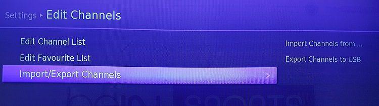 20170702 132529 طريقة سحب و تمرير القنوات من و الى رسيفر beIN sports