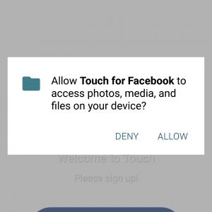 تطبيق Touch بديل الفيسبوك و الماسنجر