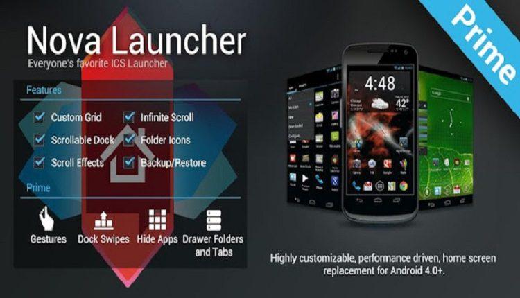 تطبيق Nova Launcher Prime افضل لانشر لتغيير شكل الهاتف