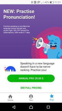 2 6 - تحميل تطبيق تعلم اللغة الانجليزية Memrise - يعلم اللغة الإنجليزية بطريقة مختلفة