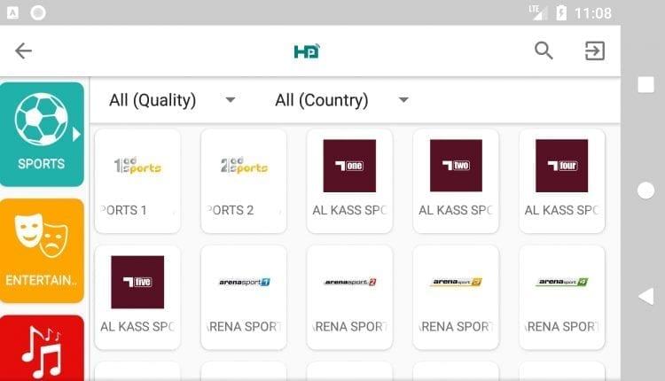 تطبيق HD Streamz افضل تطبيق لمشاهدة جميع قنوات العالم المشفرة و المفتوحة و يدعم الانترنت الضعيف