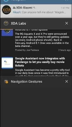 تطبيق Navigation Gestures للحصول على حركات السحب و التنقل مثل هاتف ايفون X و اندرويد P