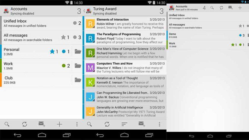 تطبيقات لأكثر من شركة و منصة لإدارة البريد الإلكترونى K-9-Mail-screenshot-