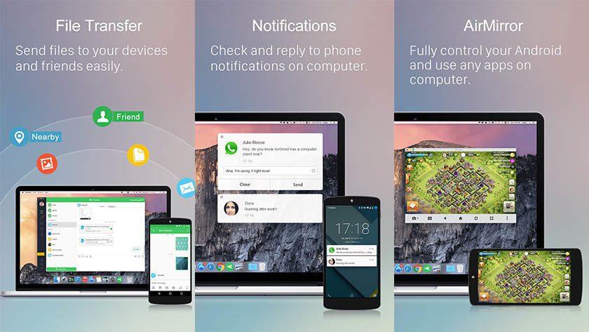 AirDroid screenshot 2019 840x473 عربى تك - تطبيقات لإرسال sms من خلال الكمبيوتر بسهولة