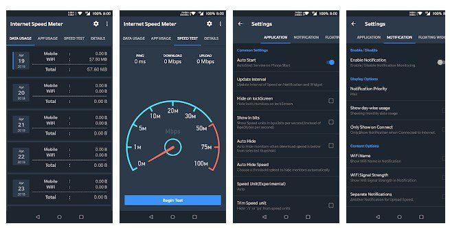 تطبيق Internet Speer Meter
