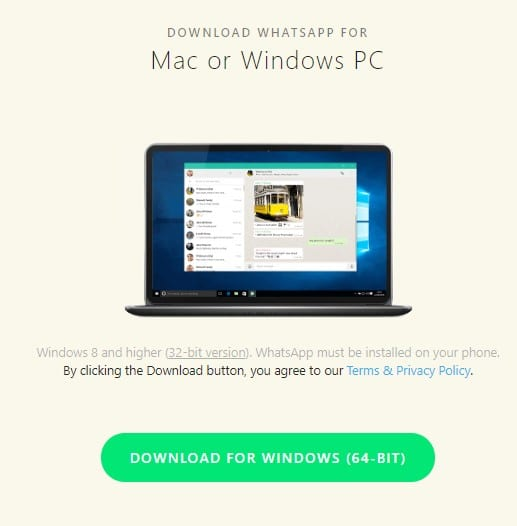 برنامج واتس آب للحاسوب