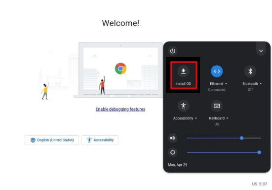 تثبيت نظام Chrome OS 4