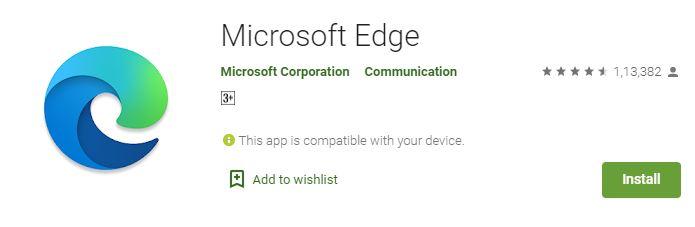 تحميل وتثبيت متصفح مايكروسوفت ايدج للأندرويد