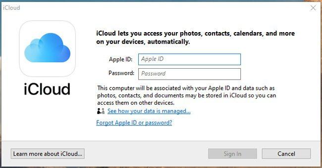 تسجيل الدخول iCloud