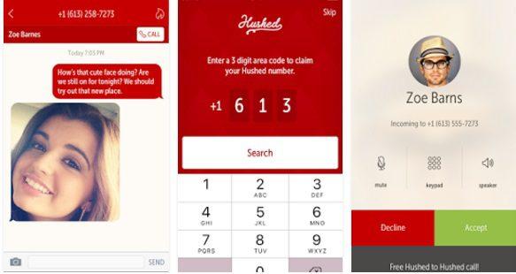 تطبيق Hushed Anonymous Phone Numbers