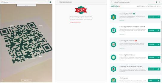 تطبيق Kaspersky's QR Code reader and scanner