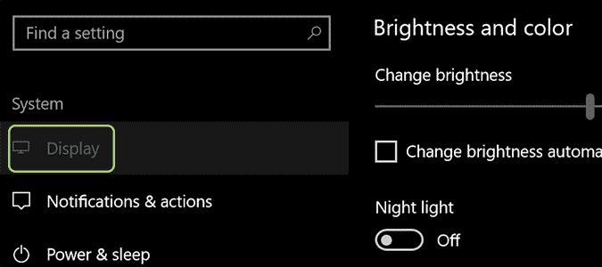 شاشة العرض لتفعيل فلتر الضوء الأزرق