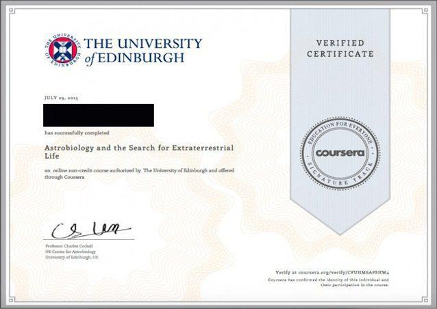 شهادة Coursera