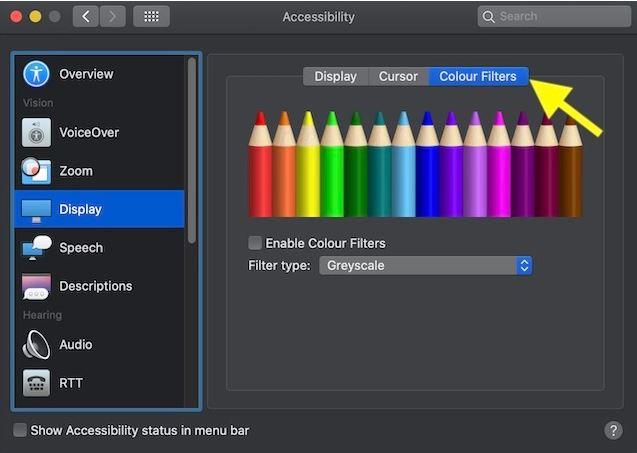 نختار فلاتر الألوان