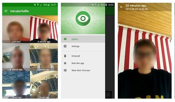 تطبيق Intruder Selfie