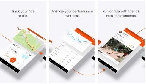تطبيق Strava tracker