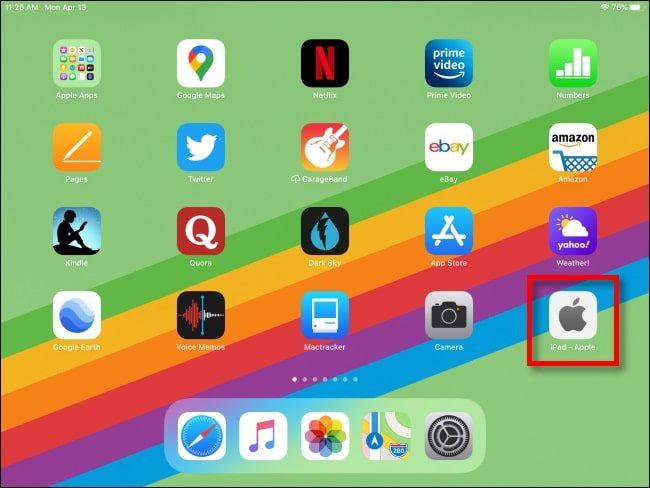 إضافة موقع ويب إلى الشاشة الرئيسية في الآيباد 3-min