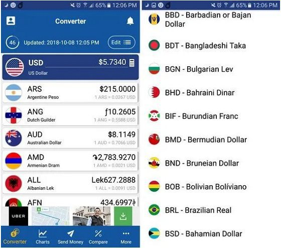 تطبيق XE Currency