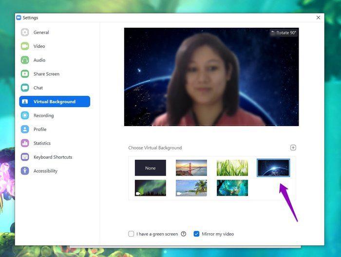 تعيين خلفية افتراضية في تطبيق Zoom 4