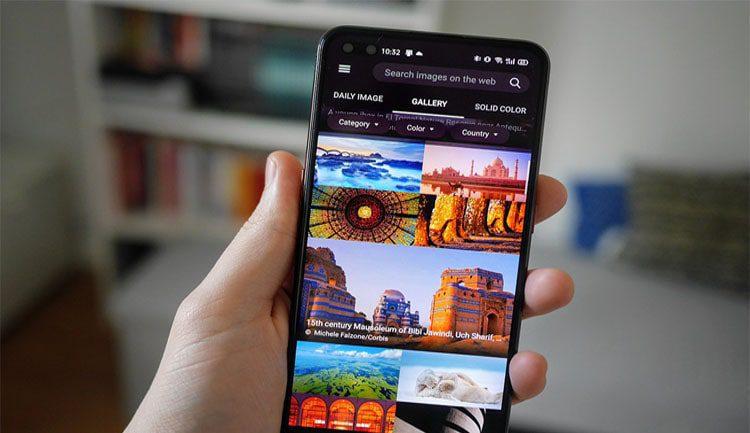 تعيين صورة محرك البحث Bing اليومية كخلفية لهاتف الأندرويد