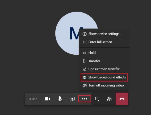 تغيير خلفية مكالمة الفيديو في برنامج Microsoft Teams 2-min
