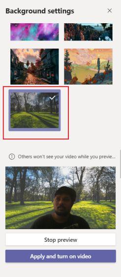 تغيير خلفية مكالمة الفيديو في برنامج Microsoft Teams 6-min