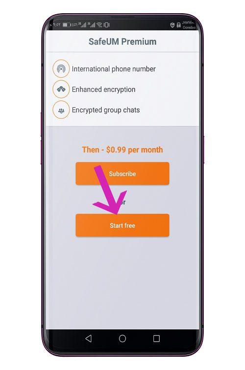 تطبيق Secure messenger SafeUM 2