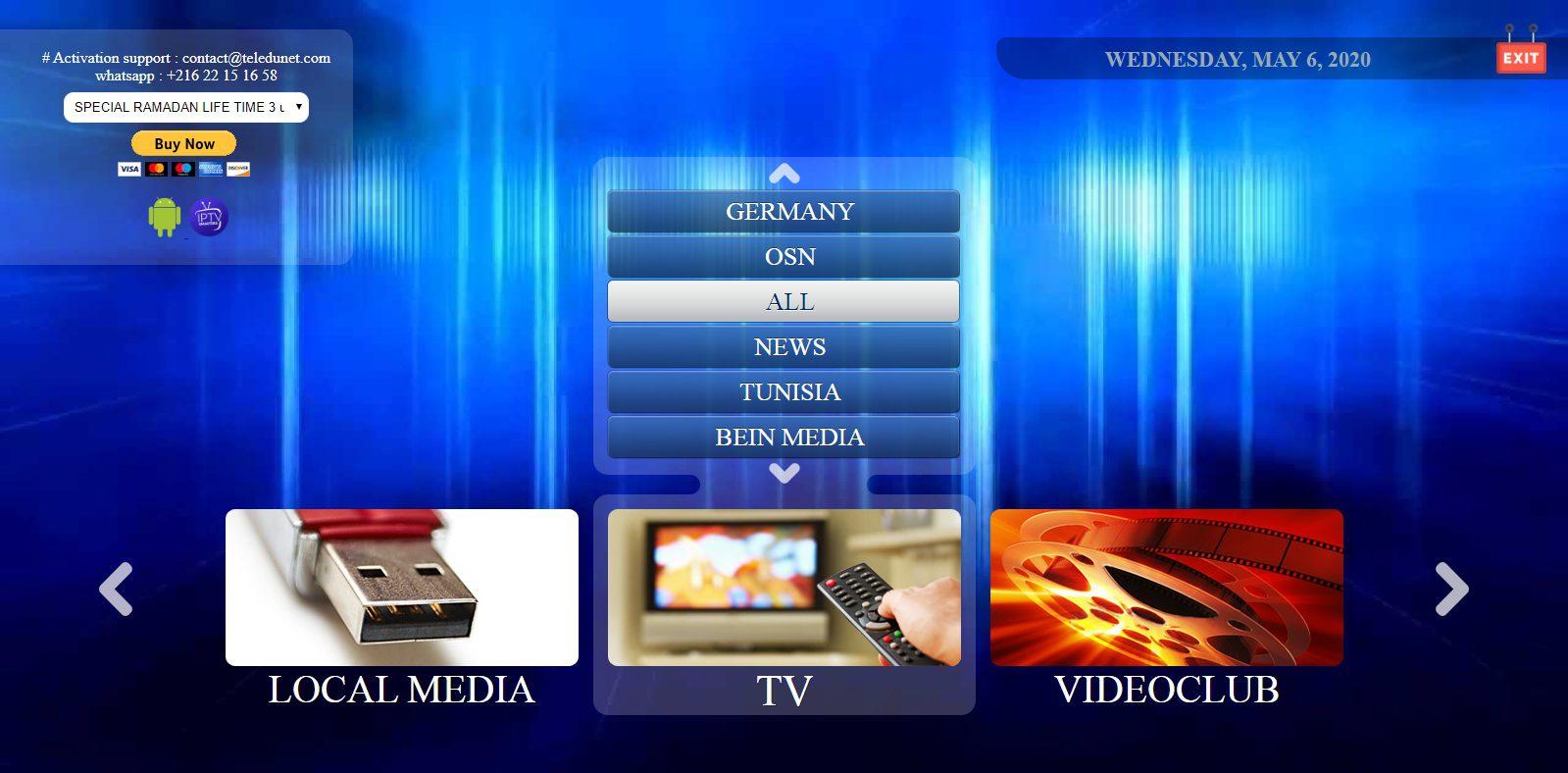 أفضل موقع لمشاهدة القنوات التلفزيونية والمشفرة مثلما تشاهدها على الستلايت بالمجان