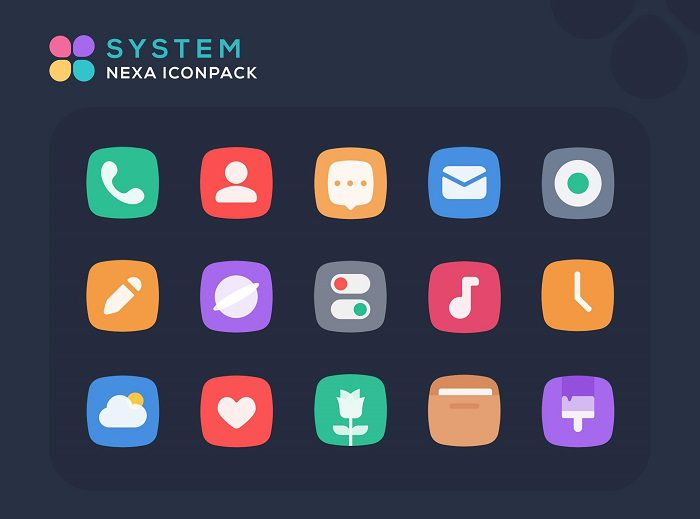 Nexa Icon Pack تطبيقات أندرويد لتخصيص أيقونات التطبيقات