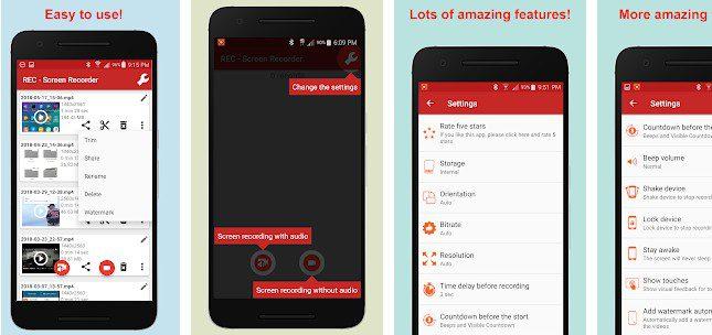 أفضل 5 تطبيقات للأندرويد لتسجيل شاشة الهاتف بجودة عالية