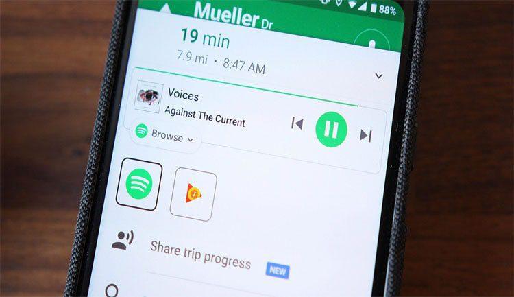 استمع للموسيقى أثناء السفر عبر تطبيق خرائط جوجل