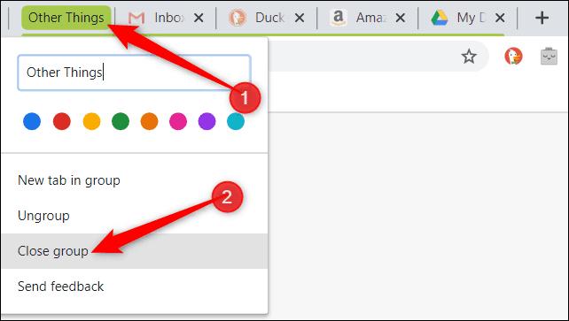 دمج أكثر من علامة تبويب في علامة واحدة في متصفح جوجل كروم 2