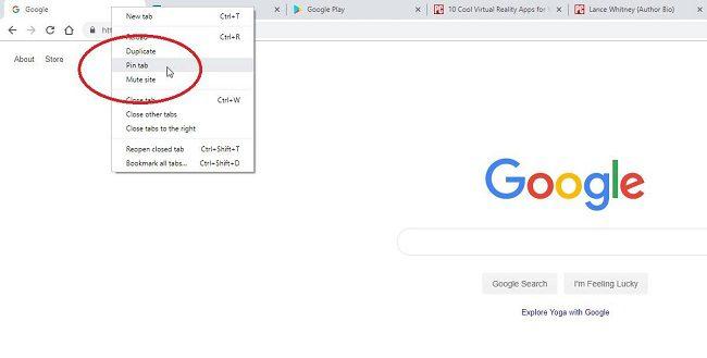 تثبيت علامات التبويب 6 خطوات يمكنك القيام بها في متصفح جوجل كروم