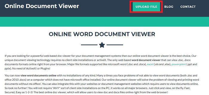 استعراض أي ملف Word بدون التوفر على برنامج مايكروسوفت وورد 1