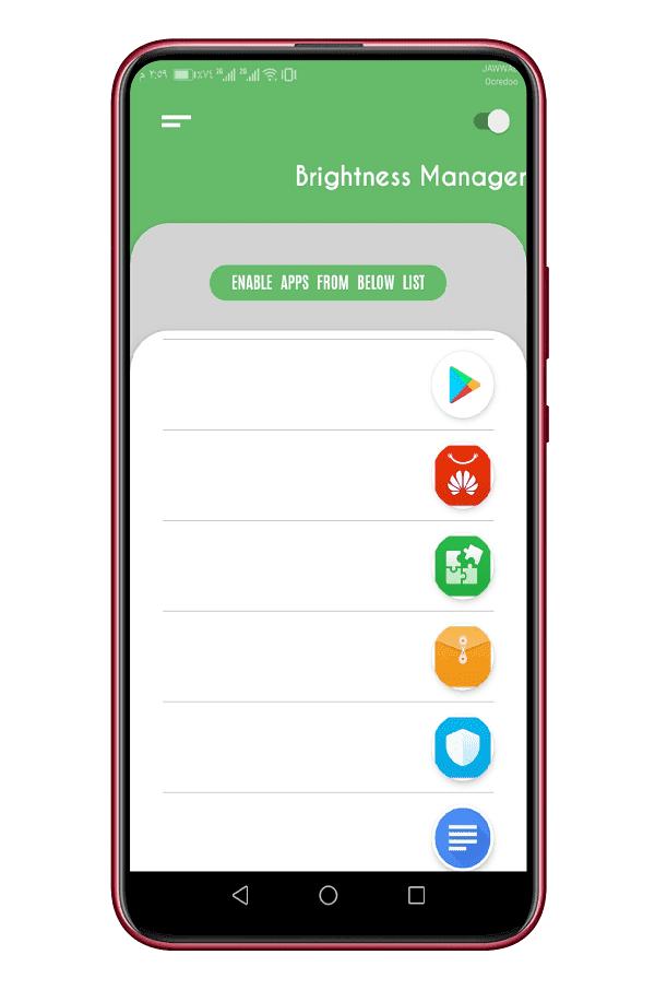 التحكم بسطوع الشاشة لكل تطبيق أندرويد على حدى 3