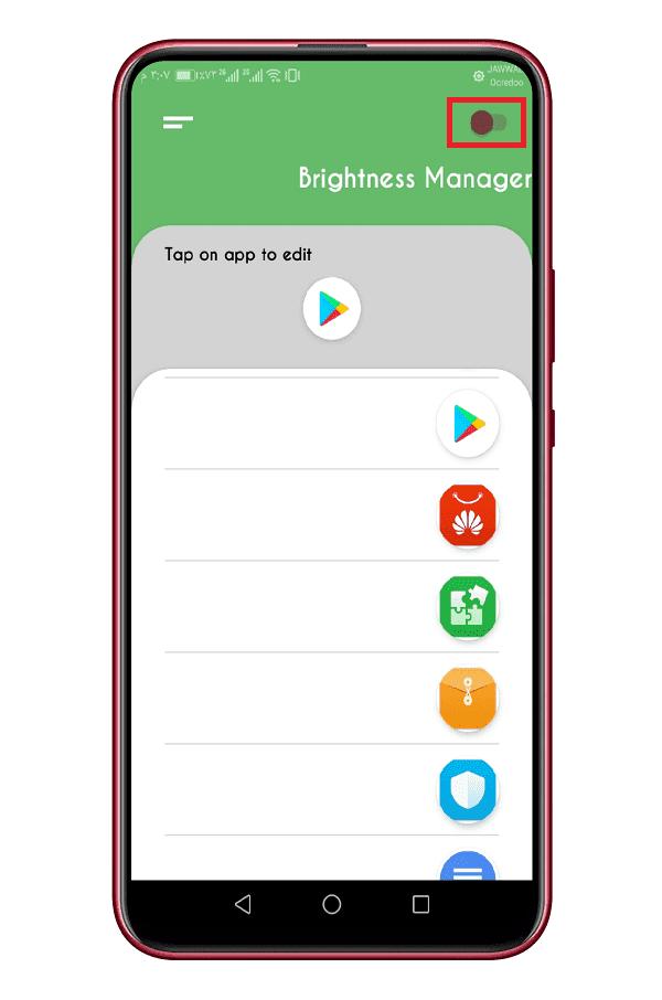 التحكم بسطوع الشاشة لكل تطبيق أندرويد 2