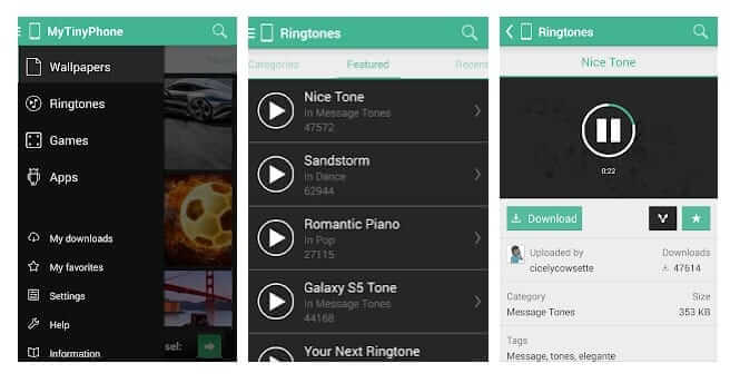تطبيق MTP Ringtones & Wallpapers