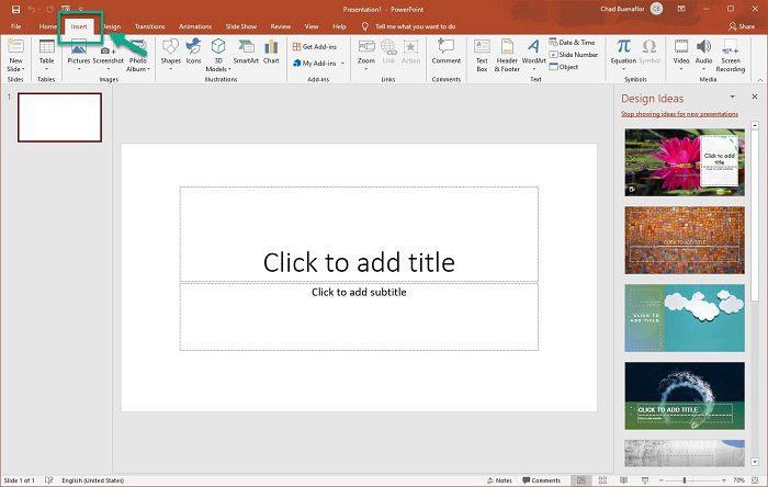 سجيل شاشة الحاسوب عبر برنامج PowerPoint3