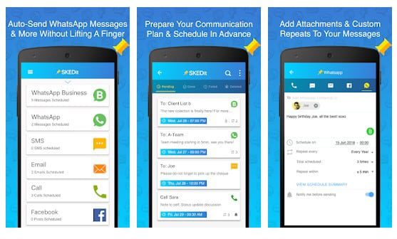 تطبيق SKEDit Scheduling App 6 تطبيقات أندرويد يجب أن تتوفر عليها في هاتفك إذا كنت تستخدم الواتس آب