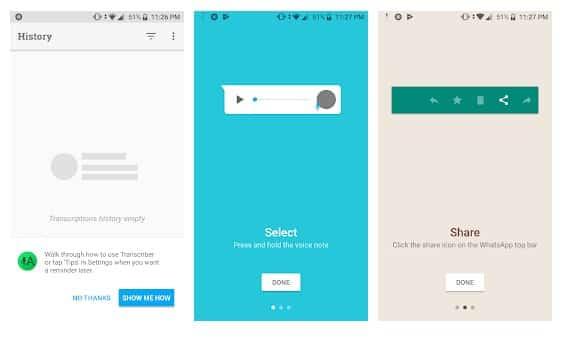 تطبيق Transcriber for WhatsApp