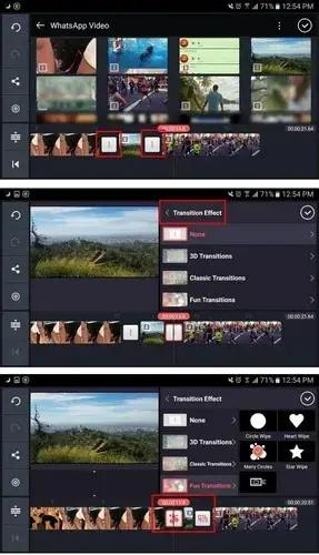 كيفية وضع تأثيرات الانتقال على الفيديوهات كين ماستر