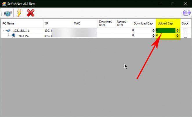 تحديد السرعة للمستخدمين سيلفش نت