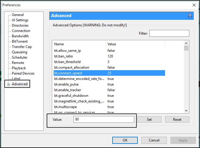زيادة سرعة تحميل ملفات التورنت عبر برنامج uTorrent 1