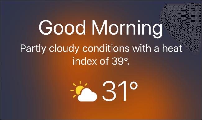 عرض حالة الطقس على شاشة القفل Lock Screen في هواتف الآيفون