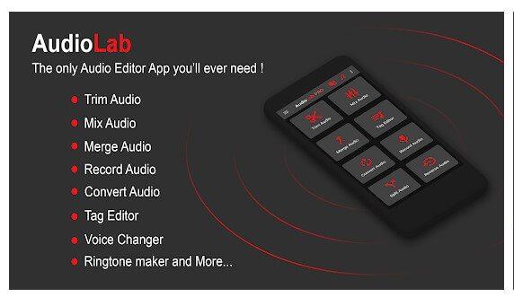تطبيق AudioLab تطبيقات إزالة الصوت من الفيديو